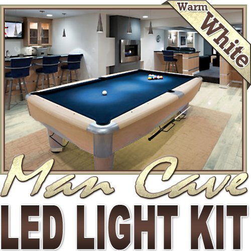 Biltek® 6' ft Warm White Basement Game Room TV LED Strip Lighting Kit Lamp Light - Sports Memorabilia Lighting Bar Theatre Room TV Liquor Cabinet Aquarium Wine Cellar Dart Board Waterproof 110V-220V (Wine Cave compare prices)