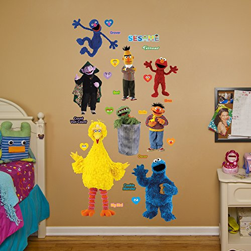 fathead sesame street collection real big wall decal food beverages tobacco food items snack. Black Bedroom Furniture Sets. Home Design Ideas