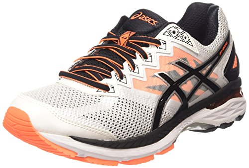 ASICS Gt-2000 4 - Scarpe Running Uomo, Bianco (white/black/hot Orange 0190), 44 EU