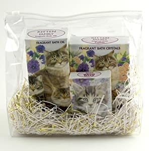Imported Kitten Herbal Bath & Body Gift Set, Soap, Bath Oil, Herbal Bath Salts, Novelty Packaging – SALE
