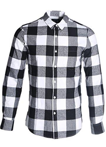 nutexrol-mens-flannel-plaid-dress-shirts-cotton-long-sleeve-button-down-shirt-a-black-x-large