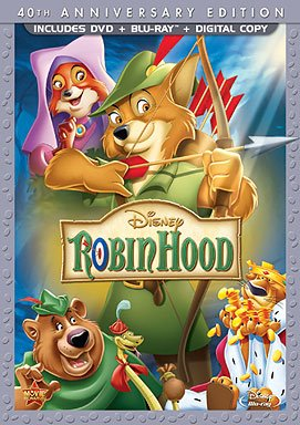 ROBIN HOOD 40th Anniversary Edition DVD Blu-Ray Combo Pack w/Digital Copy