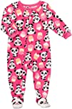 Carters Pink Panda Bears 1 Pc Microfleece Footed Sleeper Pjs