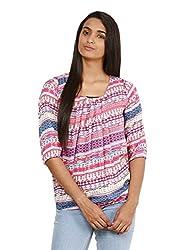 Mayra Women's Rayon Top (1604T09363_XL, Pink ,)