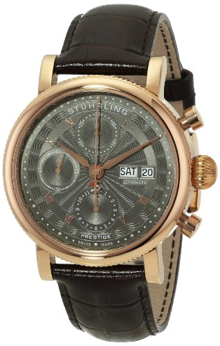 Stuhrling-Original-Mens-13904-Prestige-Prominent-Analog-Display-Swiss-Automatic-Brown-Watch