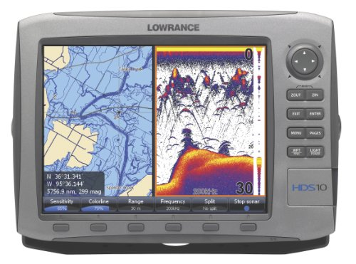 Lowrance fishfinder lowrance hds 10 10 inch waterproof for Lowrance fish finder gps