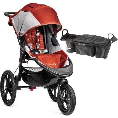 Baby-Jogger-Summit-X3-Single-Jogging-Stroller-with-Parent-Console-Orange-Gray