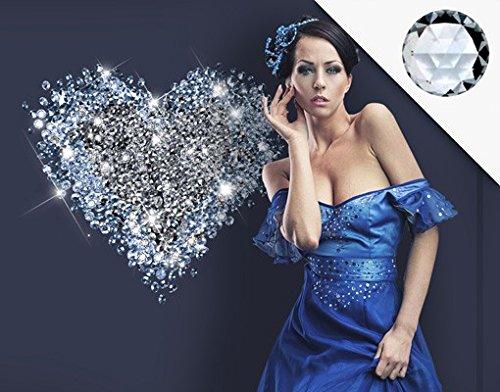 Wandtattoo No.421 Diamant Herz + 15 CRYSTALLIZED(TM) Swarovski Steine Set, Größe:136cm x 120cm