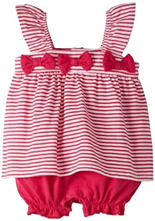 Absorba Baby-Girls Newborn Stripes Creeper, Pink, 0-3 Months