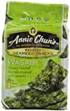 Annie Chun&#039;s Seaweed Snacks, Roasted Wasabi, 0.35-Ounce Packages (Pack of 12)