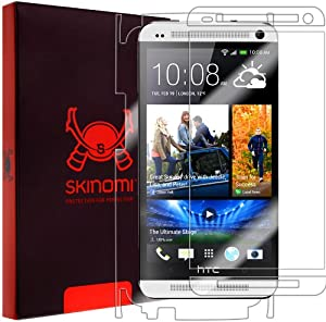 Skinomi® TechSkin - HTC One Screen Protector + Full Body Skin Protector with Lifetime Replacement Warranty / Front & Back Premium HD Clear Film / Ultra High Definition Invisible and Anti-Bubble Crystal Shield - Retail Packaging (Model(s): M7)
