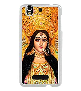 Maa Durga 2D Hard Polycarbonate Designer Back Case Cover for YU Yureka :: YU Yureka AO5510