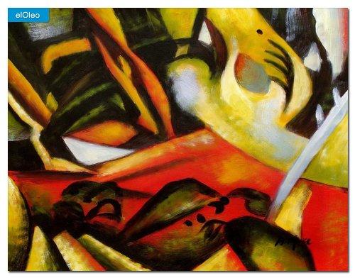 elOleo August Macke – Der Sturmes 30×40 Gemälde auf Leinwand handgemalt 83107A günstig online kaufen