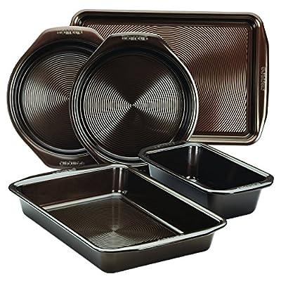 Circulon 5 Piece Symmetry Non-Stick Bakeware Set, Chocolate