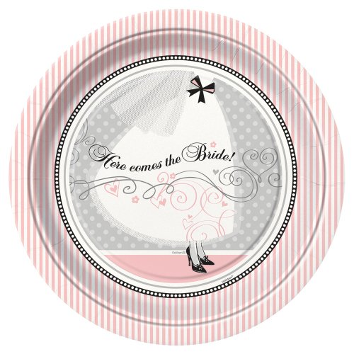 Elegant Wedding Dinner Plates, 8ct (Bridal Shower Paper Goods compare prices)