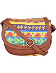 All Things Sundar Women's Sling Bag (Multi-Coloured, S01-80Y)