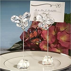 Exquisite Clear Crystal Butterfly Place Card Holders (Set of 72)
