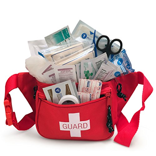 Primacare KB-8005 First Aid Fanny Pack, Stocked with Supplies
