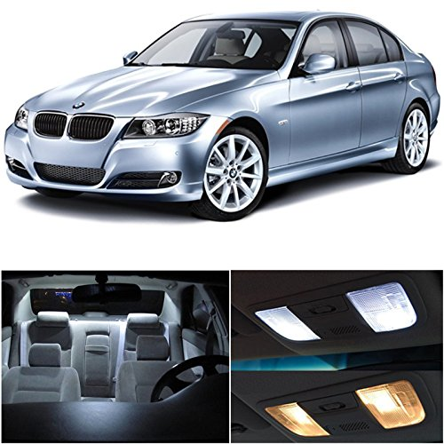 Bmw 3 Series E90 E92 M3 2006-2012 Xenon White Premium Led Interior Lights Package Kit (14 Pieces)