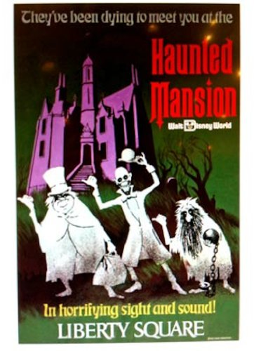 Walt Disney World Haunted Mansion Attraction Poster Reproduction 32 x 40 inches