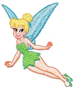 Peter Pan Tinkerbell Flying Pixie Fairy Fairies Embroidered Iron On Disney Movie Patch DS-1