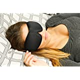 Sleep Mask with Earplugs - PREMIUM Quality - Contoured Eye Mask By SleePedia - Very Lightweight With Adjustable Velcro Strap - Satisfaction Guaranteed - For Men and Women - Blocks The Light Completely - Best For Travel, Insomnia or Quiet Night Sleep