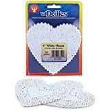 Hygloss 93641 36-Piece Heart Doilies, 4-Inch, White