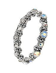 BEAUTIFUL HEMATITE CRYSTAL MAGNETIC BRACELET FOR WOMEN.Joint Aid, RSI, Carpal Tunnel. Migraines
