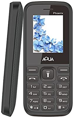 Aqua Phoenix Dual SIM Basic Mobile Phone - Black