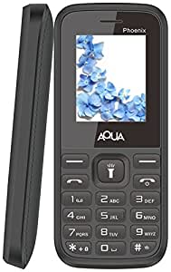 Aqua Phoenix Dual SIM Basic Mobile Phone Black