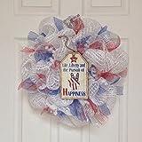 New! Slim! Premium Patriotic Peace Wreath