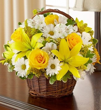 1800Flowers – Peace, Prayers, & Blessings- Yellow and White – Large