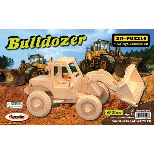 "Puzzled Bulldozer 3D Jigsaw Puzzle (63-Piece), 8.5 x 4 x 4"" - 1"