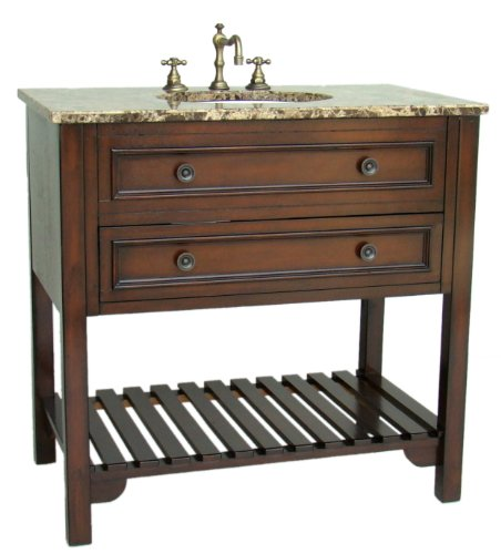 HAND PAINTED VICTORIAN STYLE WOODEN BATHROOM SINK VANITY CABINET