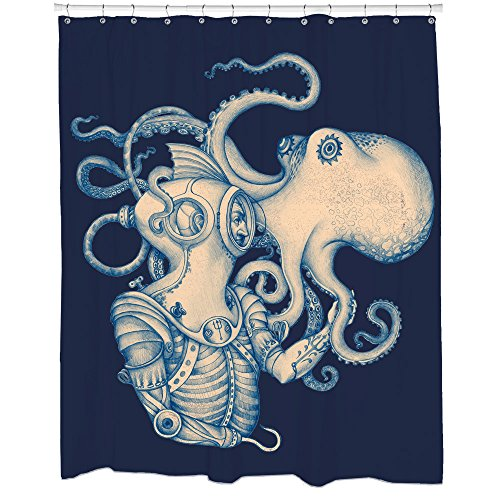 Sharp Shirter Deep Sea Discovery Shower Curtain