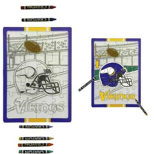 Minnesota Vikings Children Fun Color Your Own Puzzle Set