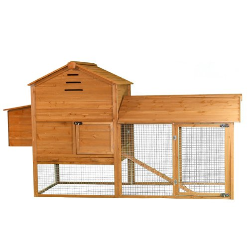Antique Hutch: Large Wood Chicken Coop Nest Box Rabbit
