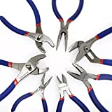 "Workpro 7-piece Pliers Set (8"" Groove Joint Pliers, 6"" Long Nose, 6"" Slip Joint, 7"" Linesman, 8"" Slip Joint)"