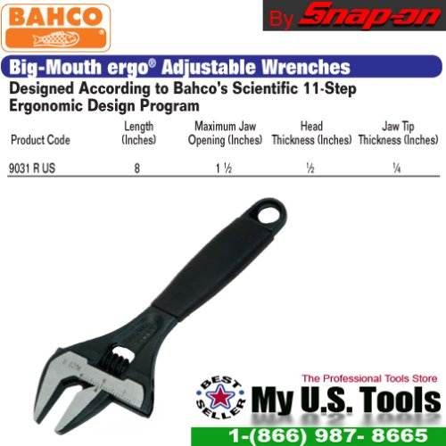 Bahco Snap On 9031 R US Big-Mouth ergo® Adjustable Wrenches 8