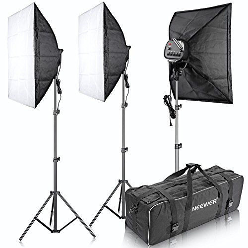 Neewer-3000W-5500K-20x2850x70cm-Five-Socket-Softbox-Compact-Fluorescent-Photo-Video-Studio-Lighting-Kit-with-Carrying-Case-for-PortraitureArt-and-Product-Photography