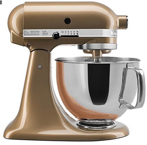 KitchenAid Stand Mixer Tilt Head 5-Quart RRK150CZ (CERTIFIED REFURBISHED) champagne Gold (Color Kitchen Aid Mixer compare prices)
