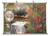 Beautiful Christmas flowers arrangement - Canvas Wall Scroll Poster (32x24 inches) Sale