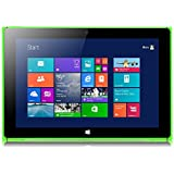 iRULU Walknbook 10.1 Inch, 32GB Hybrid Laptop, 2-In-1 Tablet, Microsoft Windows 8.1 and Bing, Detachable Keyboard With Stand (Green)