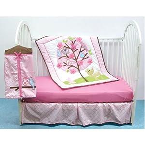 Luvable Friends 4 Piece Crib Bedding Set, Girl's Tree