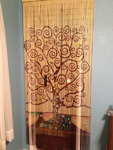 tree of beaded curtain 125 strands hanging hardware