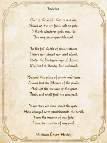 Invictus Poem Fine Art Print (30.48 x 40.64 cm)