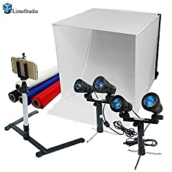 LimoStudio Photography Table Top Photo Light Tent Kit, 24 Inch Photo Light Box, Continous Lighting Kit, Camera Tripod & Cell Phone Holder AGG1069