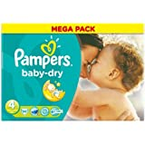 Pampers Baby Dry Nappies Size 4 Large Pack 86 per pack case of 1