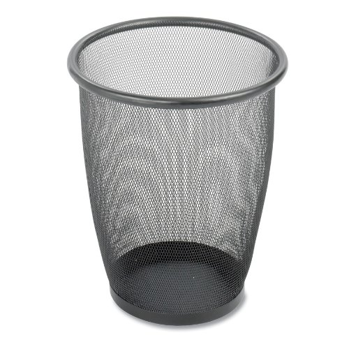 Safco Products 9717BL Onyx Mesh Round Wastebasket (Qty. 3), Black