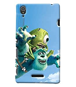 Blue Throat Monkey Printed Designer Back Cover/ Case For Sony Xperia T3